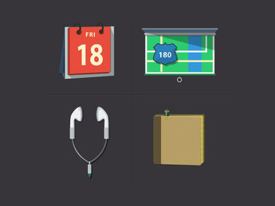 Some flat icons (Volume 1) + PSD*