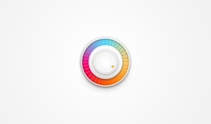 多彩的音量旋钮 表单按钮-第1张