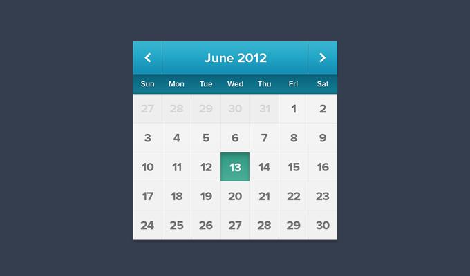 日历UI界面下载 时间日期-第1张