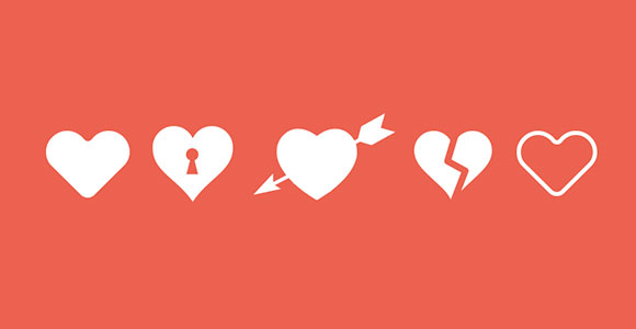 love-heart-icons-free-psd