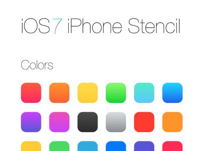iOS7 Omnigraffle Stencil (Free)