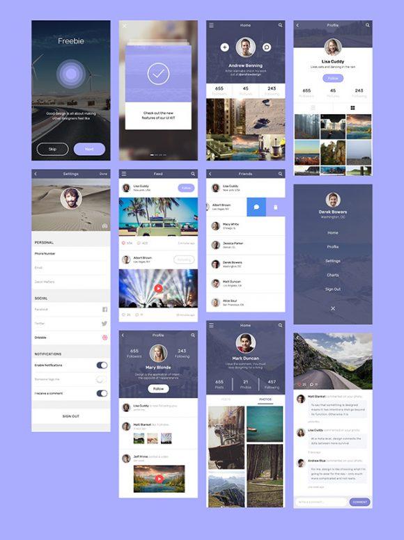 社交类 app UI界面设计psd 界面-第1张
