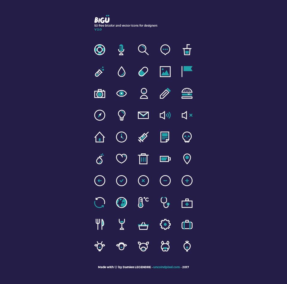 50个常用图标集 ai素材图标下载