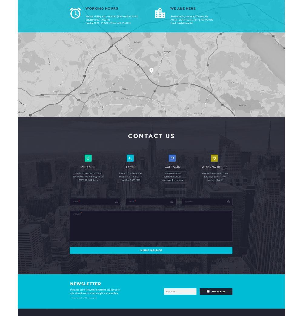 Axwell 数字互动工作室网站模板 psd素材下载 网页模板-第3张