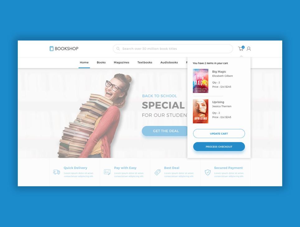 bookshop电商购物书城网站模板设计 psd素材下载 网页模板-第6张