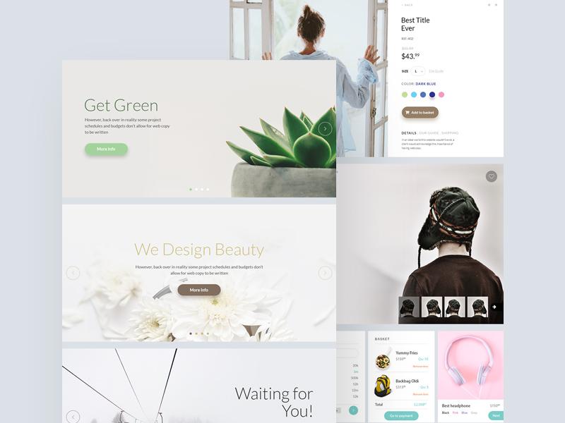 简洁干净的电商购物网站模板  psd素材下载 网页模板-第1张