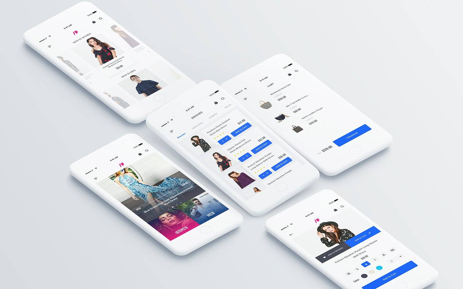 电商购物时尚Fashion AppUI界面设计 sketch素材下载 界面-第1张