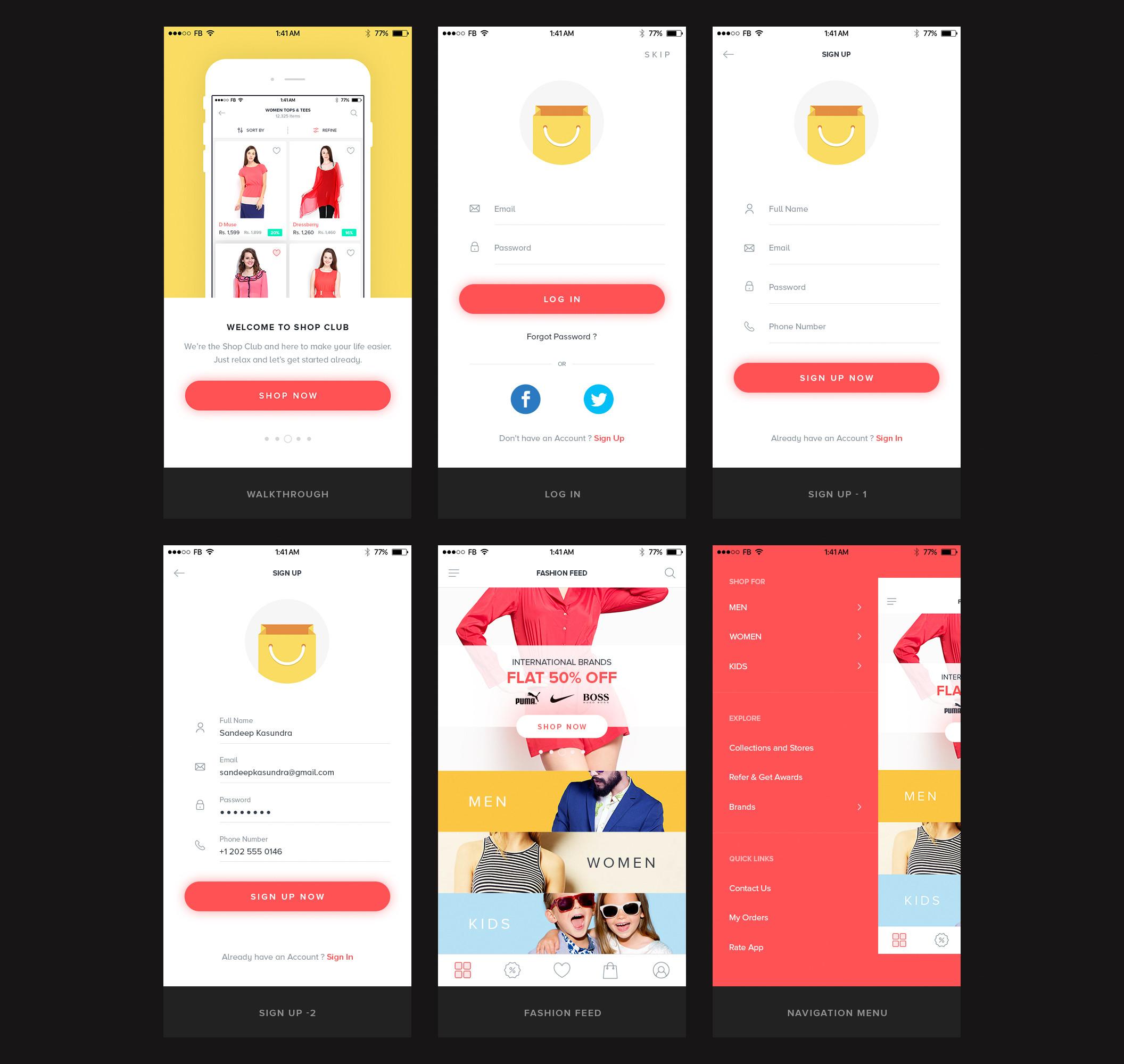 一个专业简洁的电商购物完整Ui界面设计 psd素材下载 界面-第2张