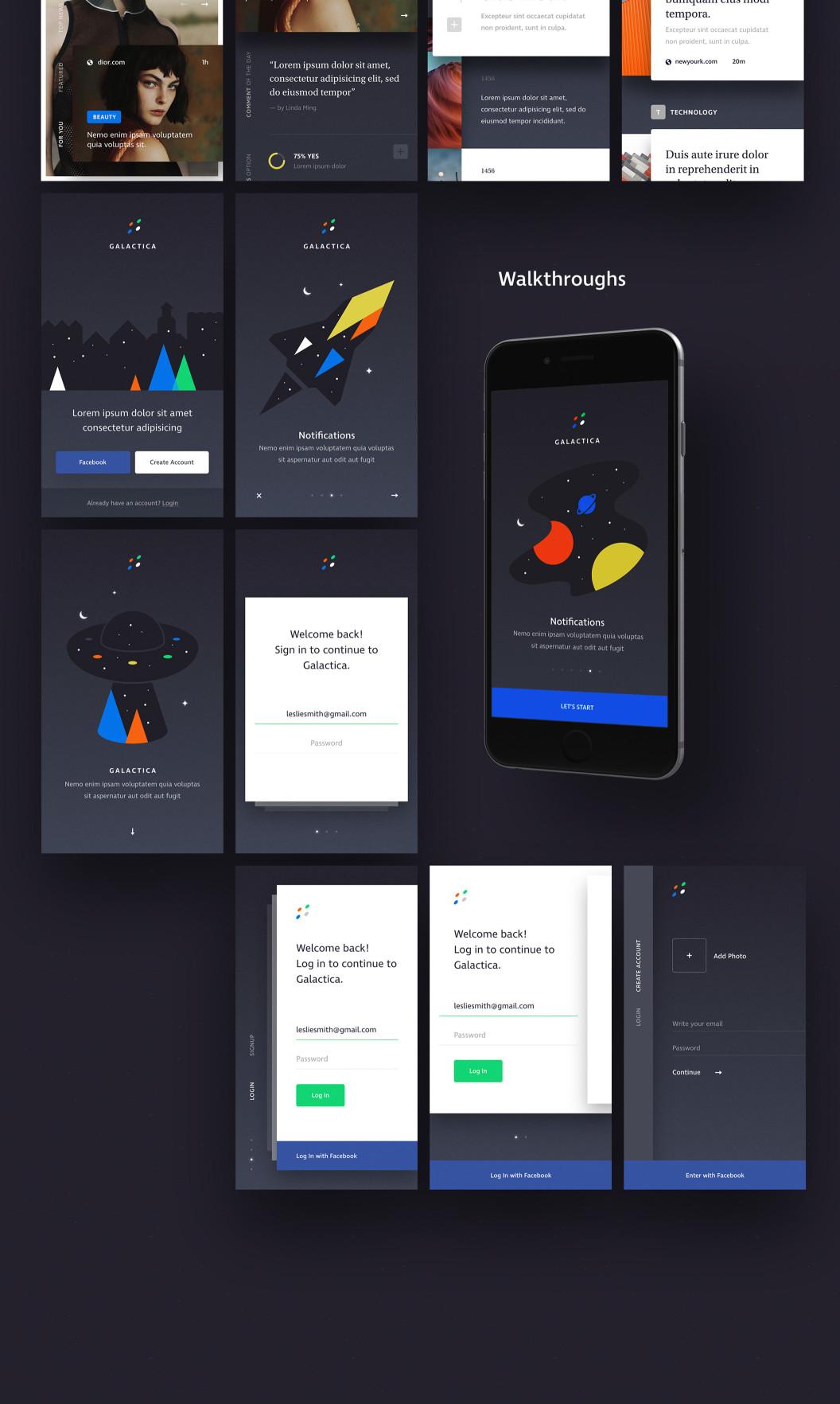Galactica 电子商务 iOS XD UI KIT  XD素材下载 界面-第2张