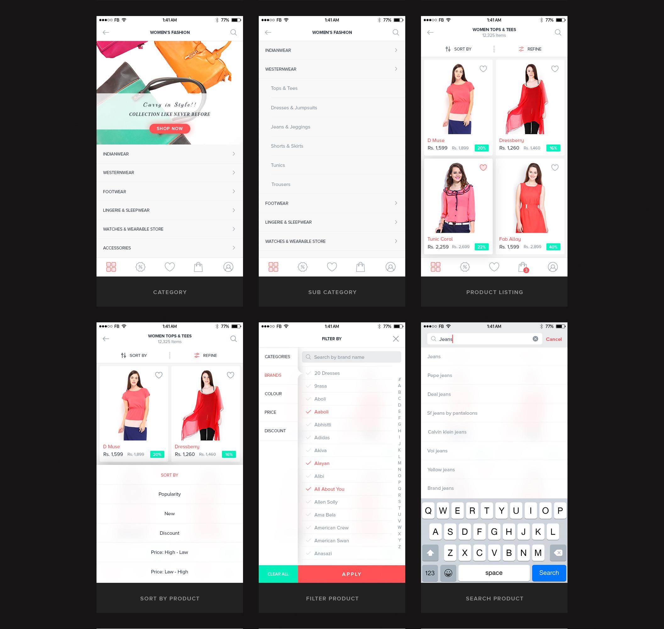 一个专业简洁的电商购物完整Ui界面设计 psd素材下载 界面-第3张