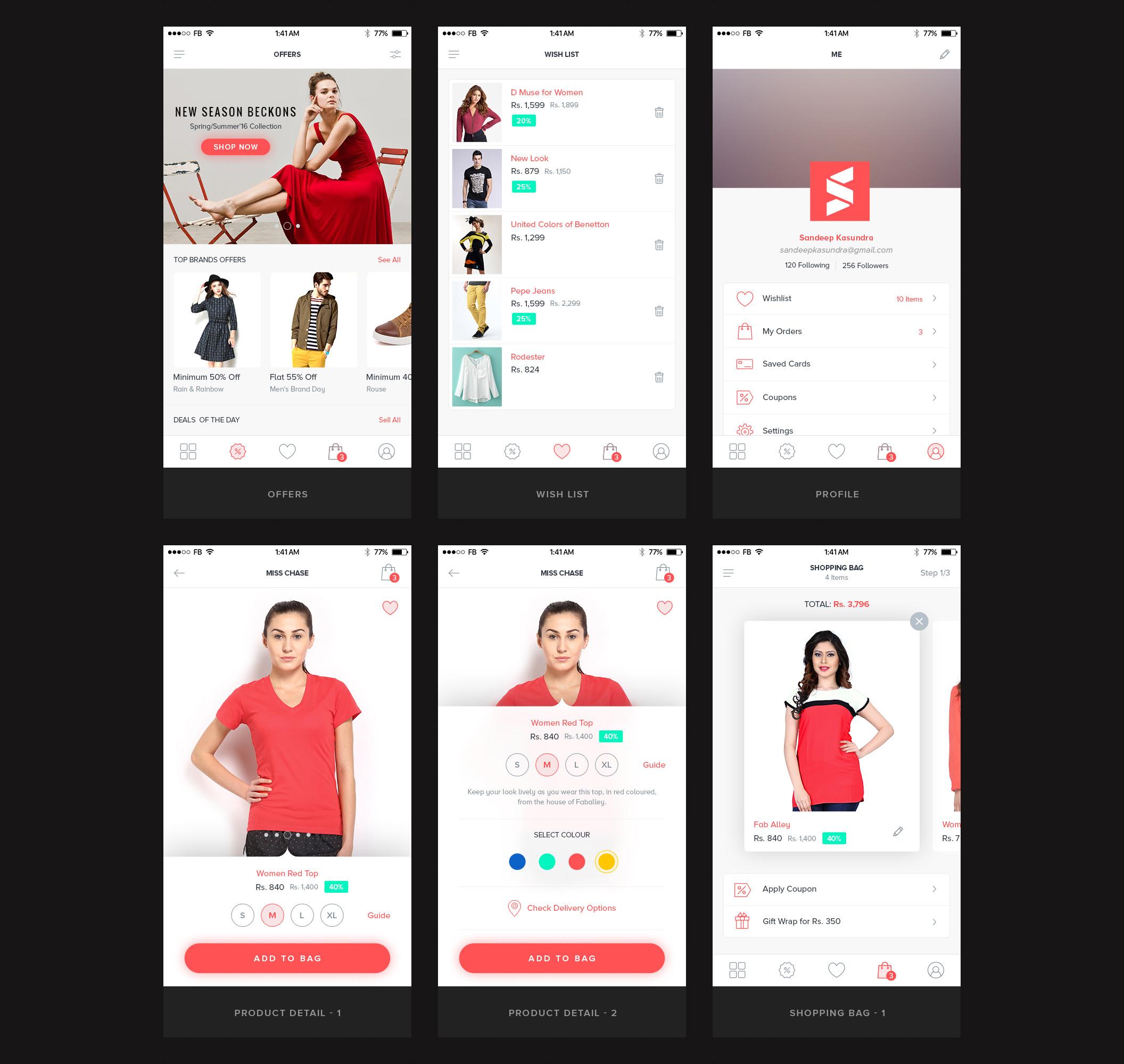 一个专业简洁的电商购物完整Ui界面设计 psd素材下载 界面-第4张