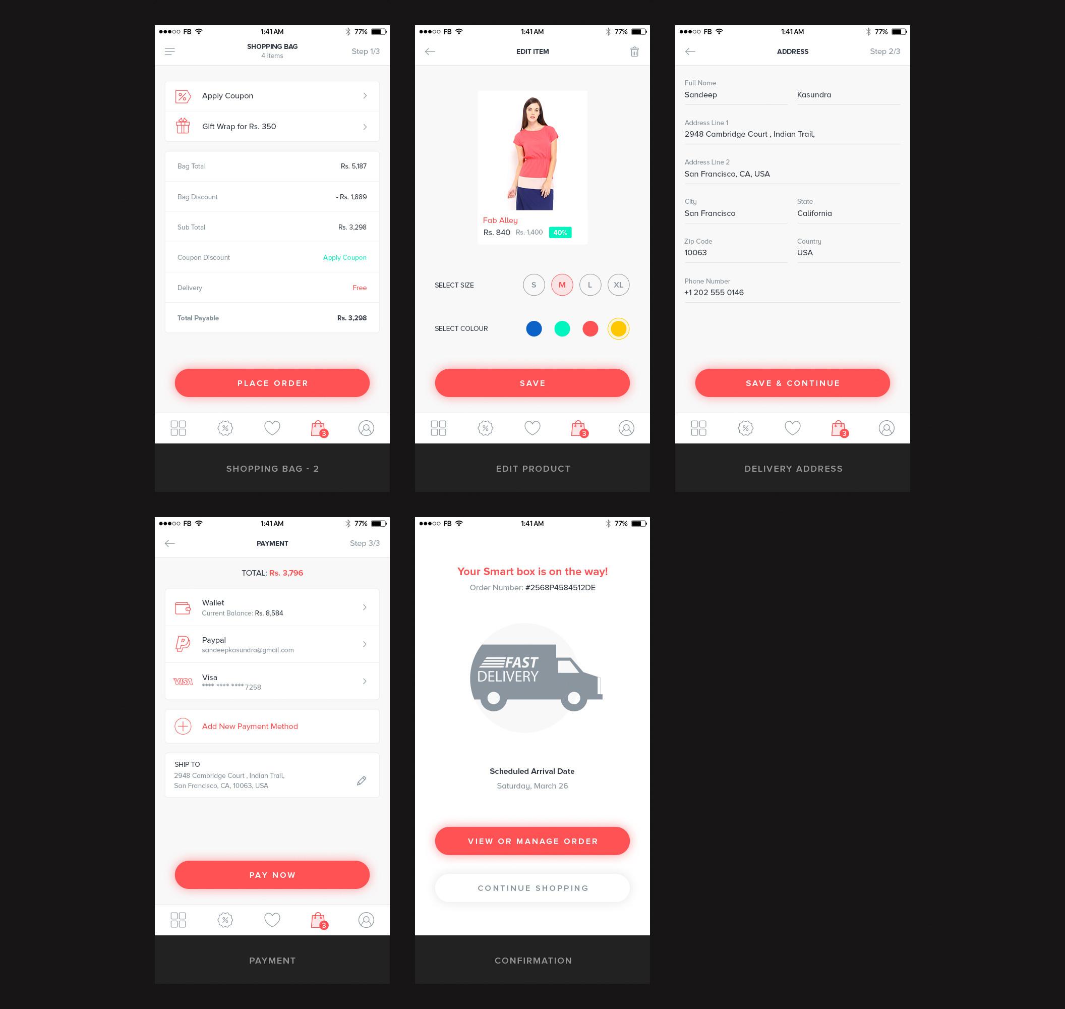 一个专业简洁的电商购物完整Ui界面设计 psd素材下载 界面-第5张