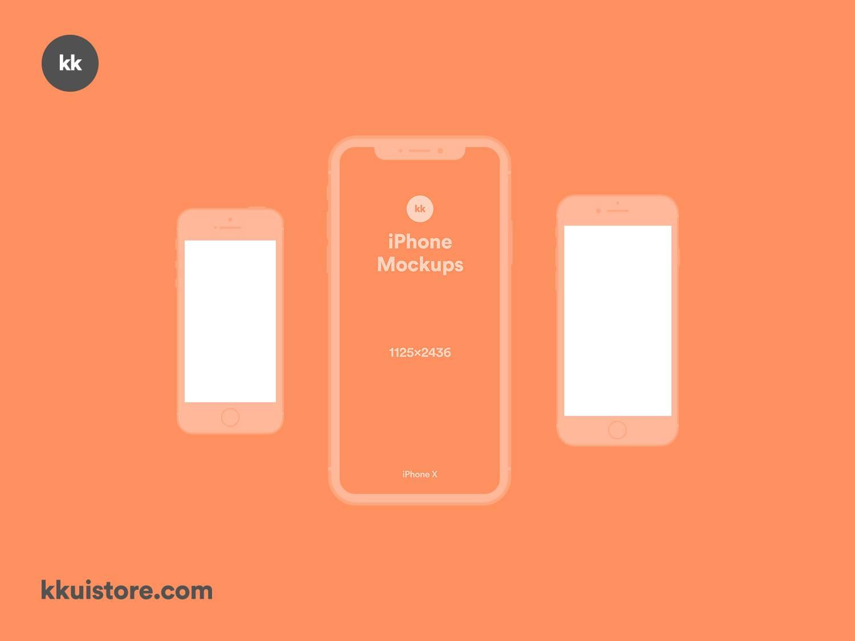 3个苹果手机 iPhone Mockups样机展示 psd&sketch素材下载 样机素材-第1张