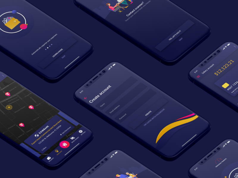 金融app UI界面设计 XD素材下载 界面-第1张