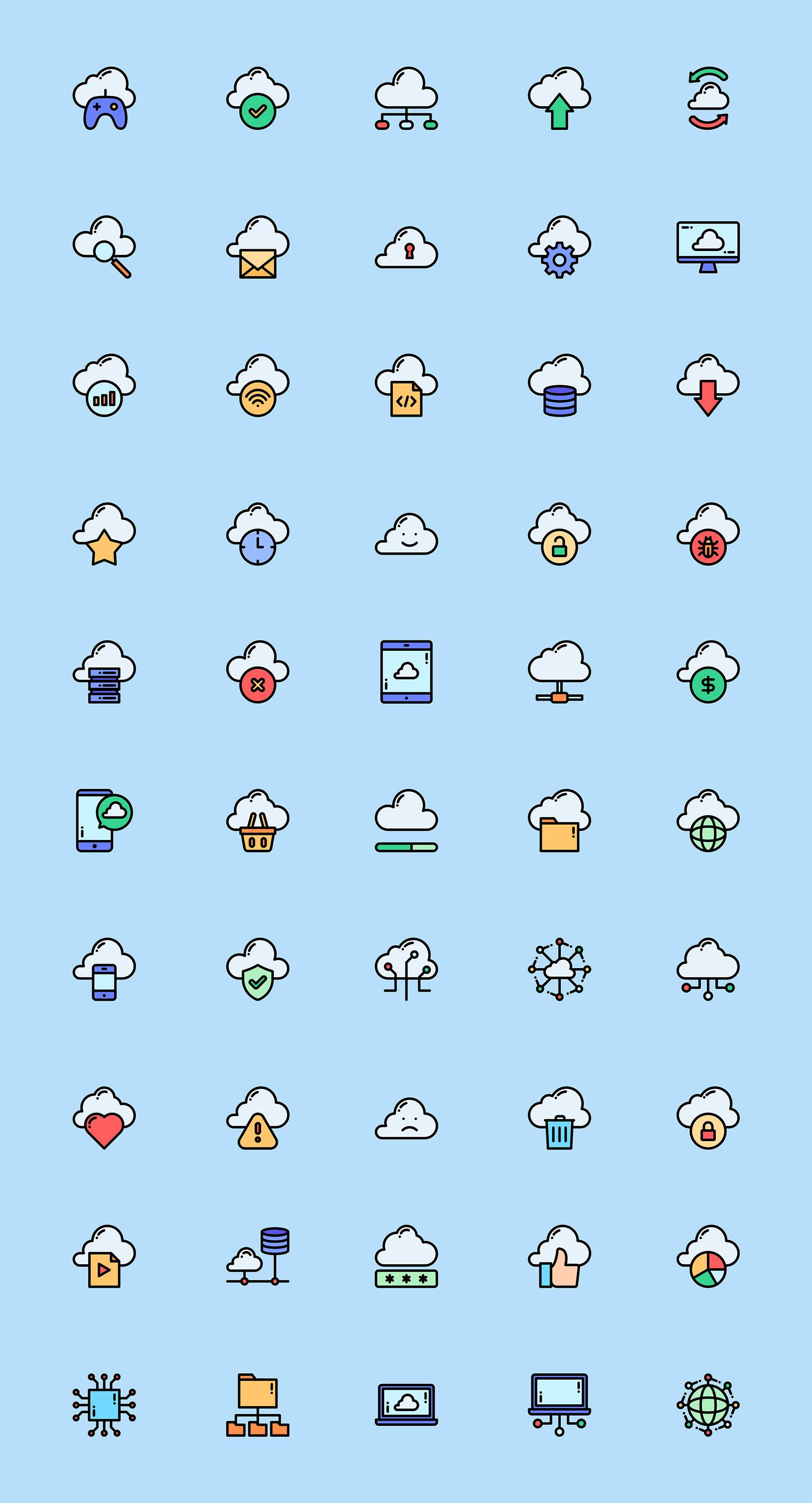 50+云计算网络icon图标 sketch素材下载 图标-第1张