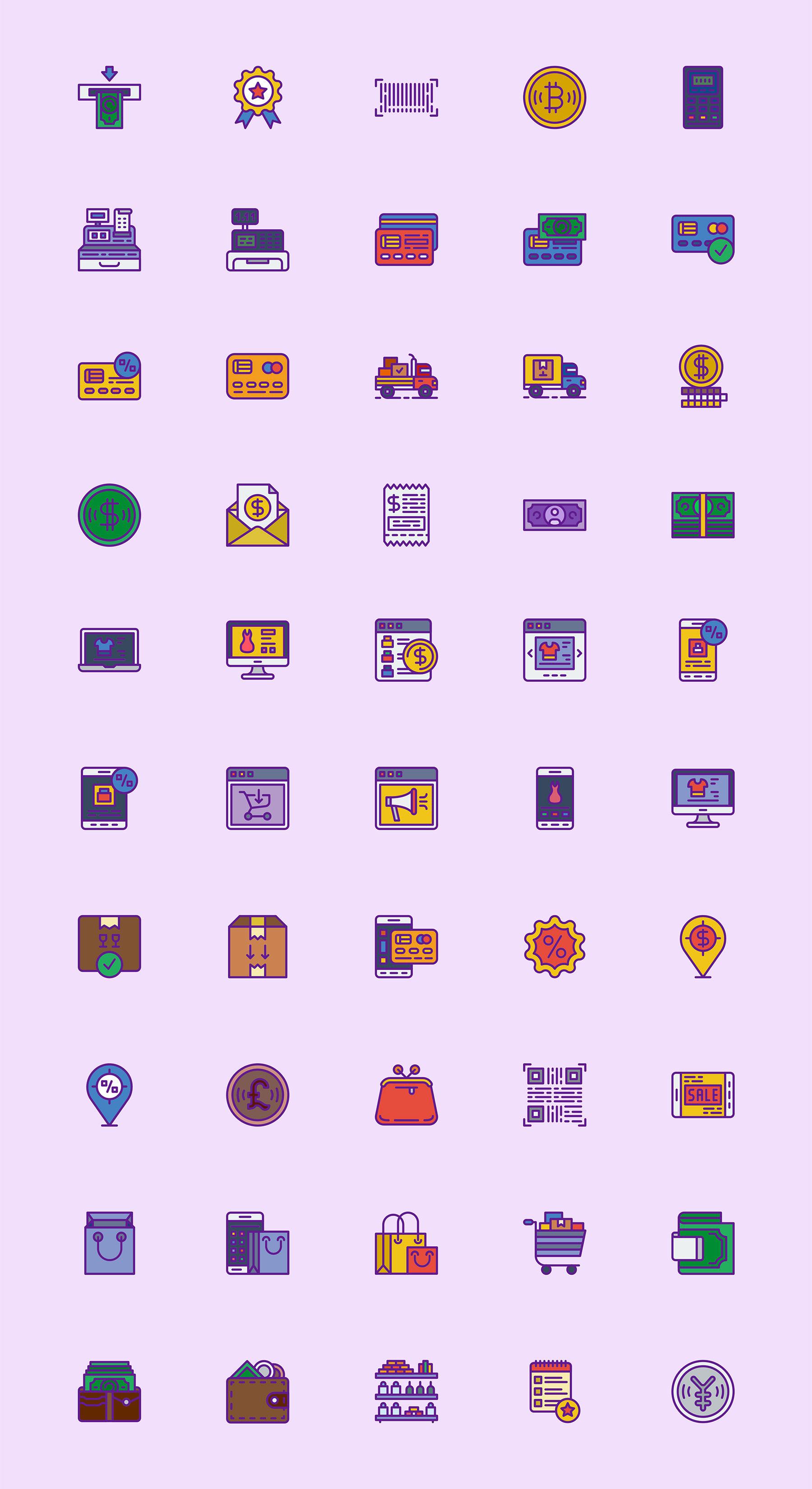 购物党看过来,50+购物元素图标icon sketch素材下载 图标-第1张