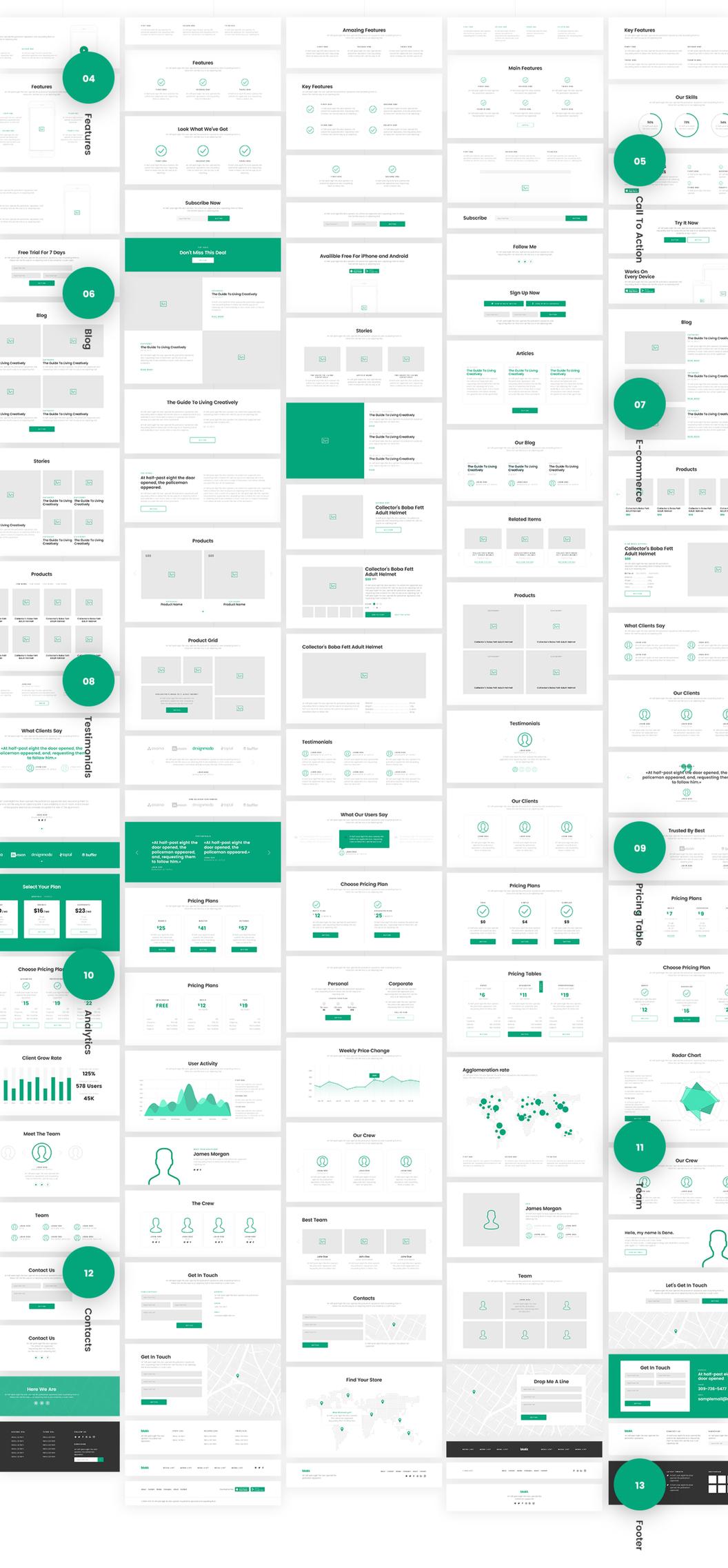 Blokk 网页模版ui Kit 主题包(框架版本) 主题包-第2张