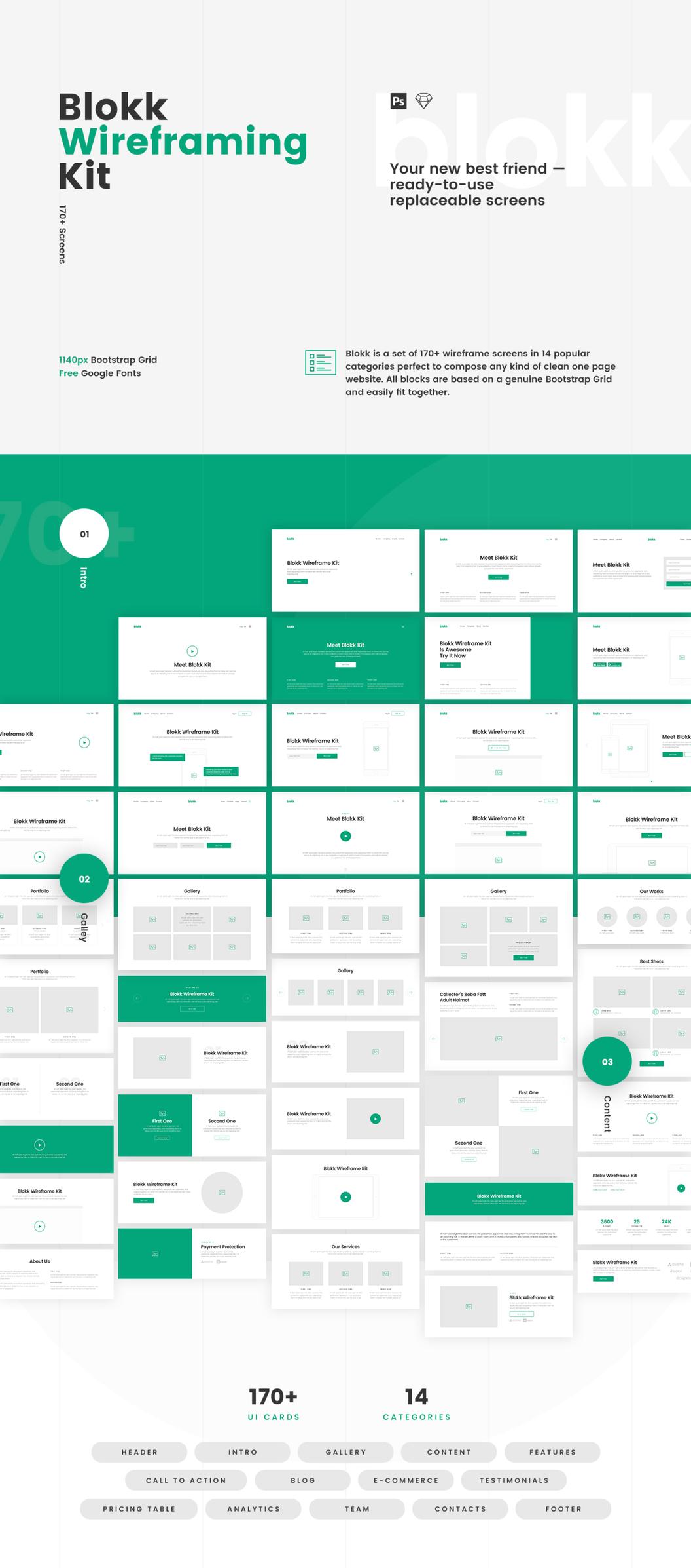 Blokk 网页模版ui Kit 主题包(框架版本) 主题包-第1张