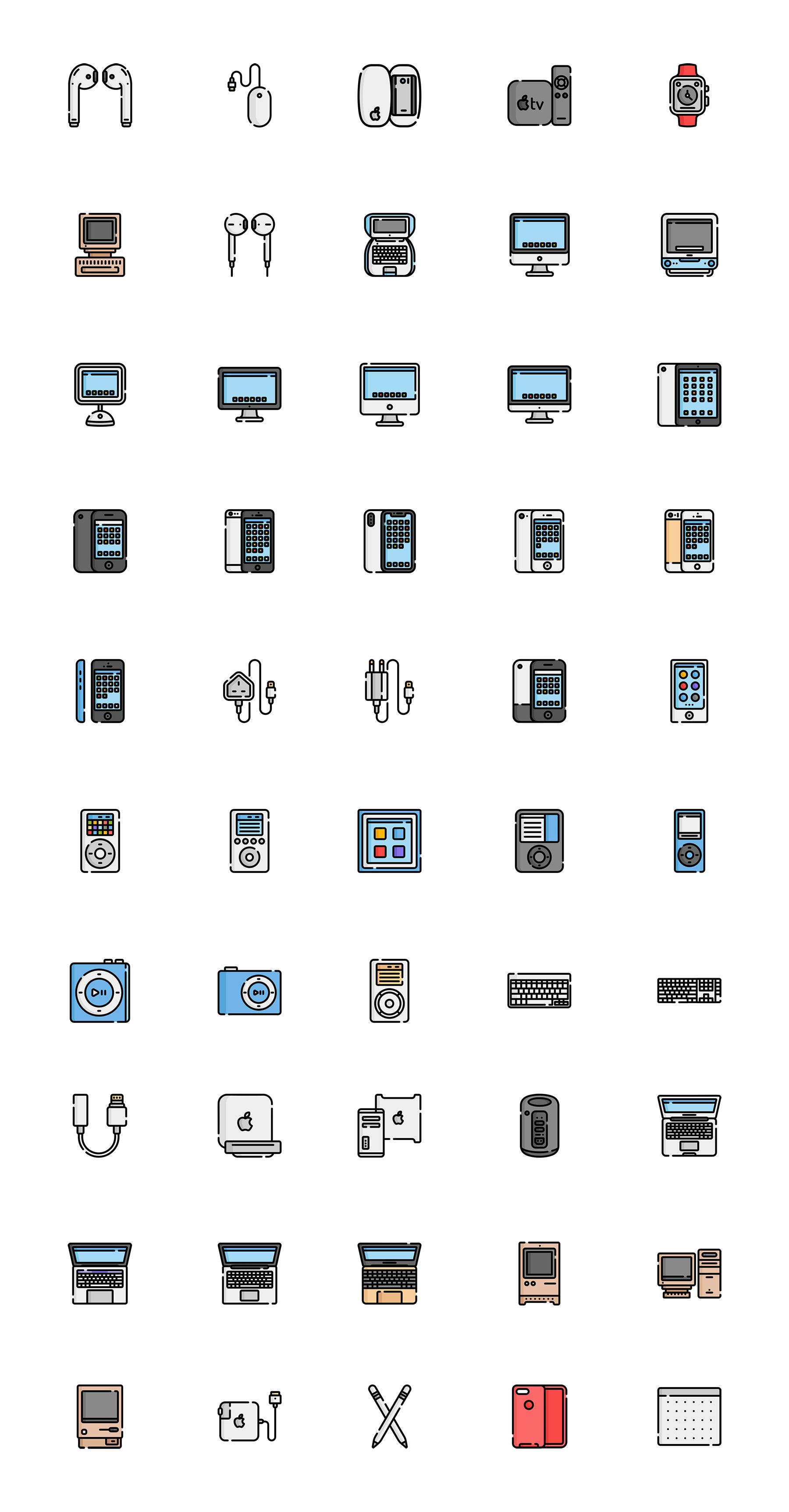 这么多枚苹果设备ICON图标 sketch素材下载 图标-第1张