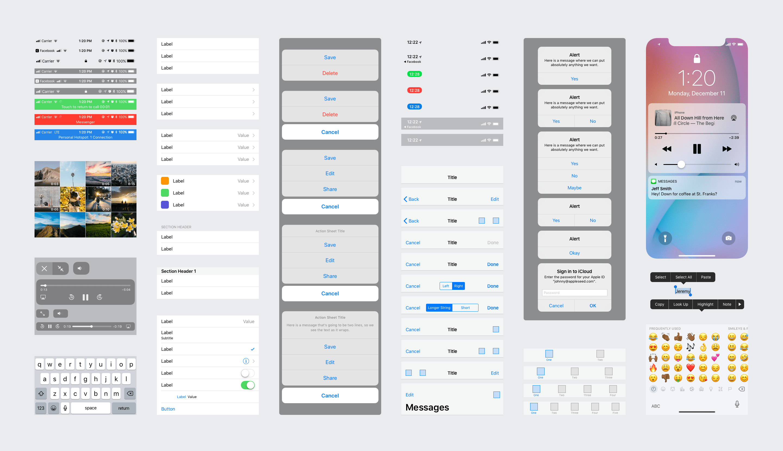 Facebook Design's iOS 11 GUI  sketch素材下载 主题包-第2张
