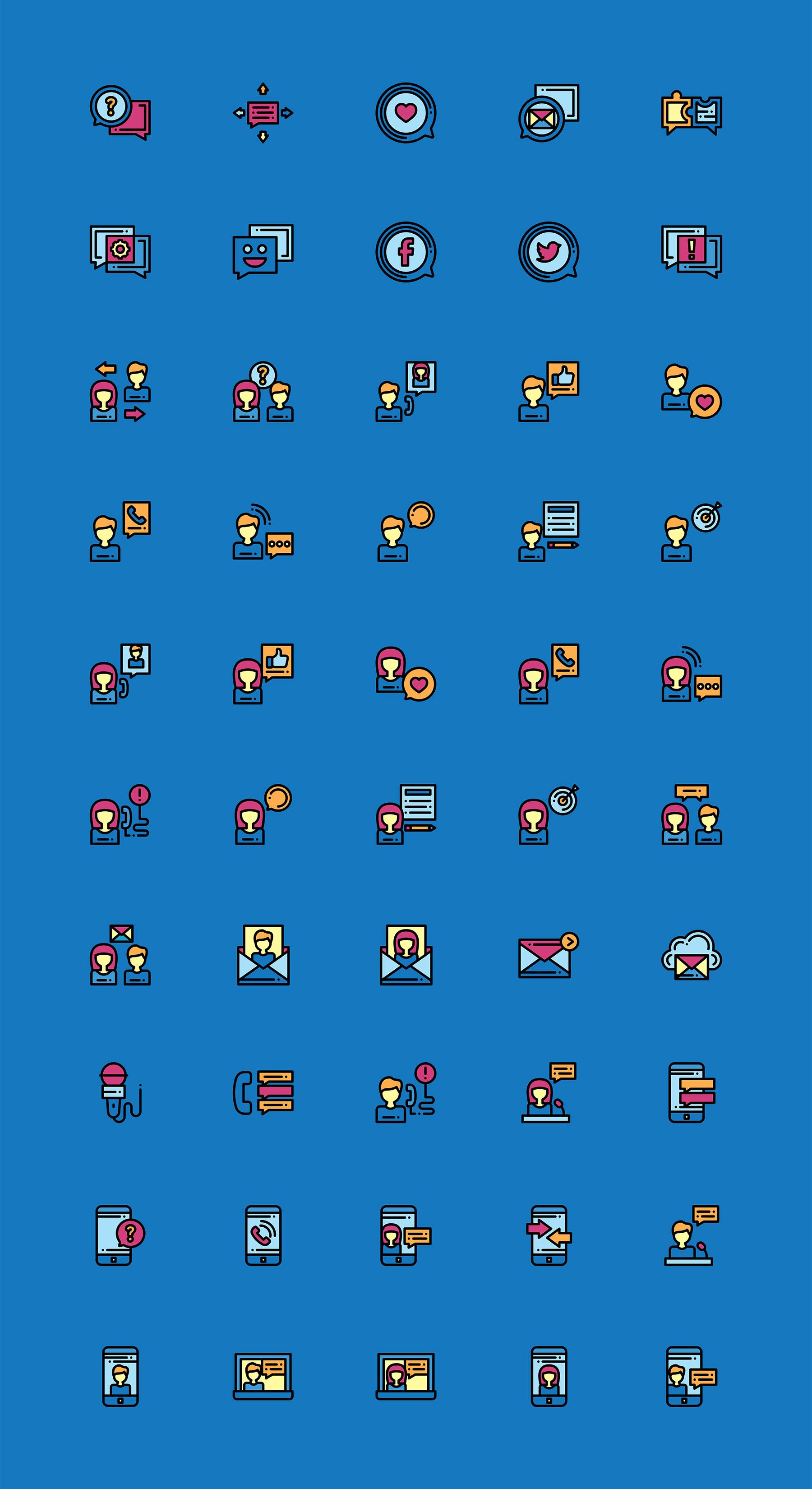50+社交媒体讨论元素图标 sketch素材下载 图标-第1张