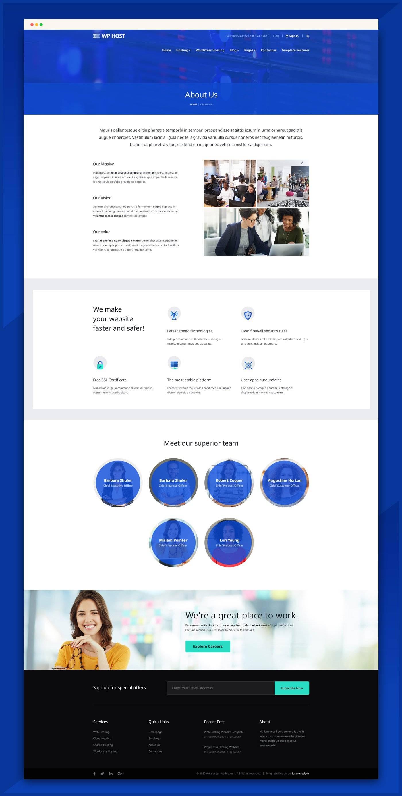 网站托管服务网站模板 psd素材下载 网页模板-第4张