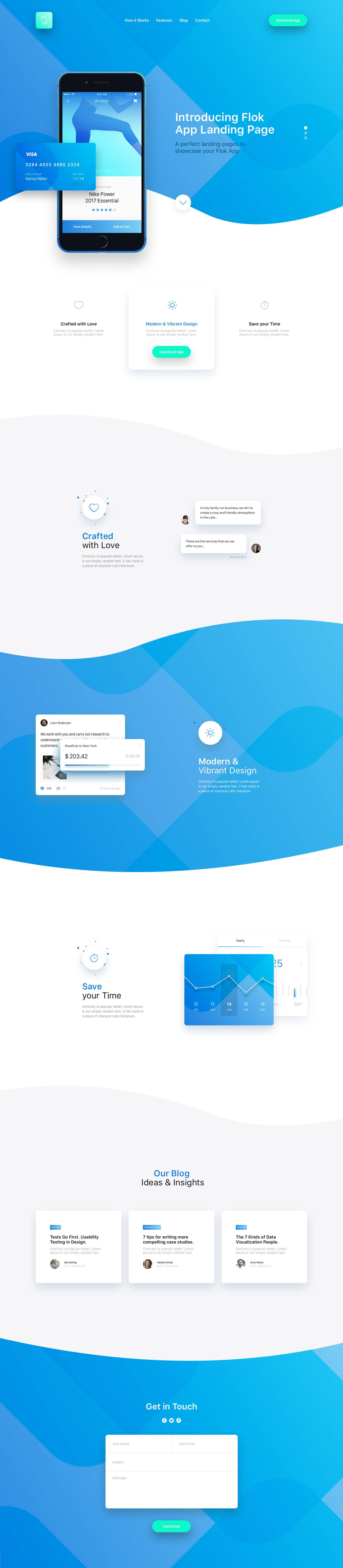 app 网站着陆页UI界面模板psd&sketch素材下载 网页模板-第1张