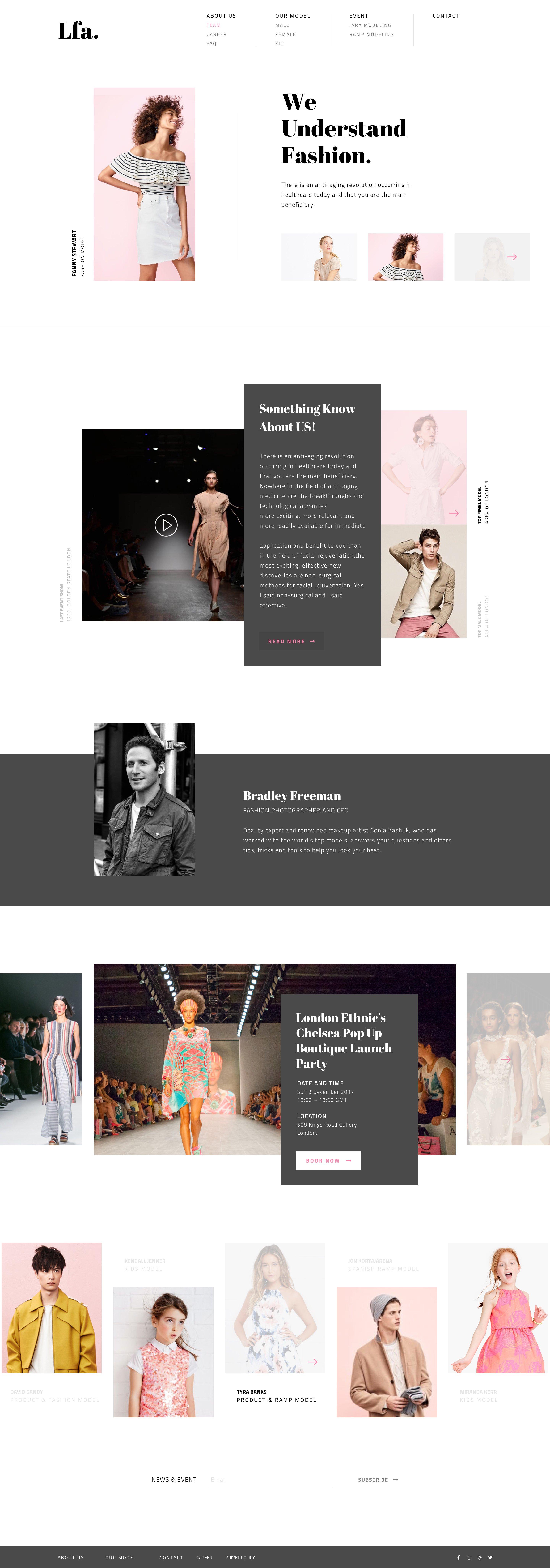 lfa时尚品牌网站ui界面设计 sketch素材下载 网页模板-第1张