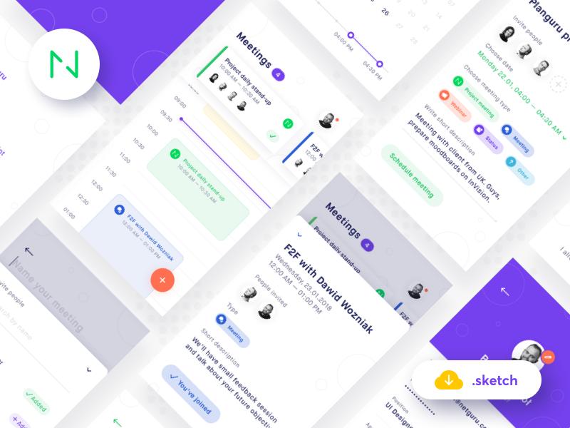 Planguru – Mobile UI Kit主题包 sketch素材下载 界面-第1张