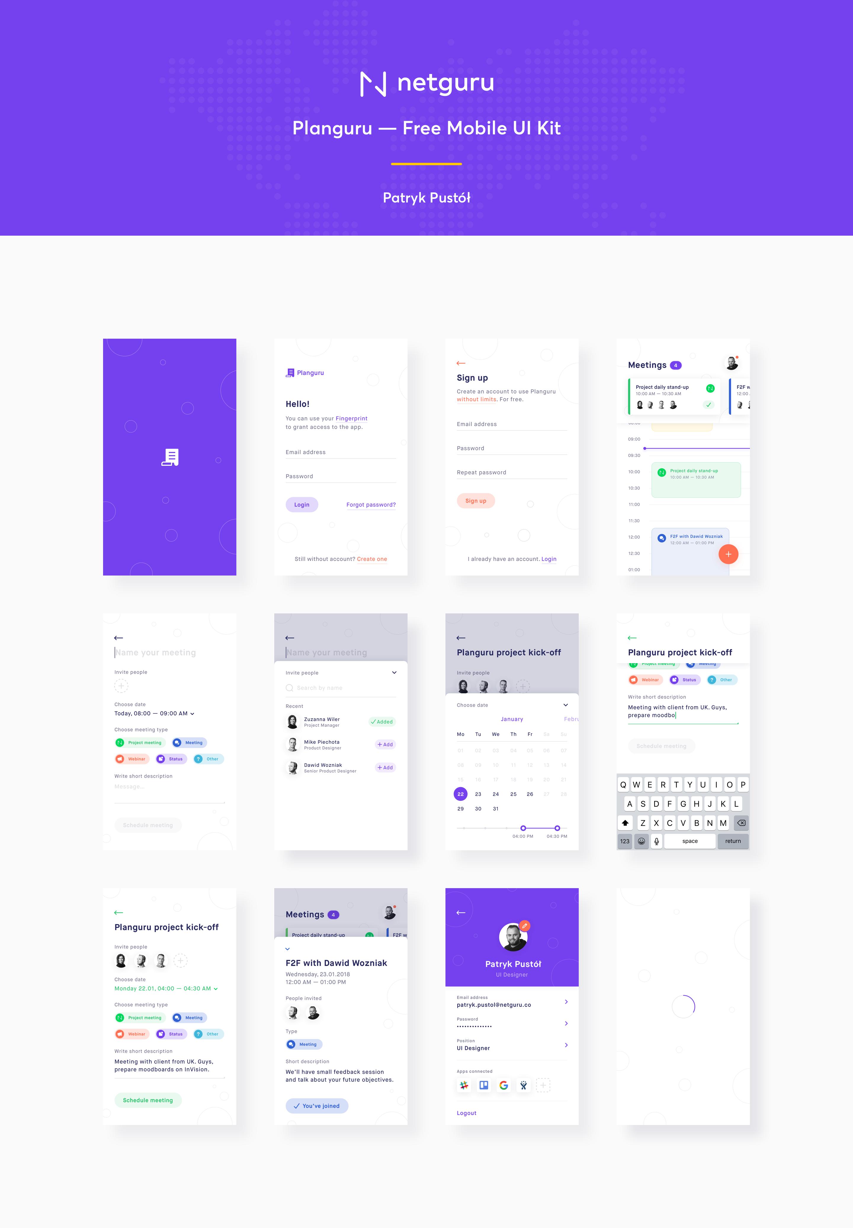 Planguru – Mobile UI Kit主题包 sketch素材下载 界面-第2张