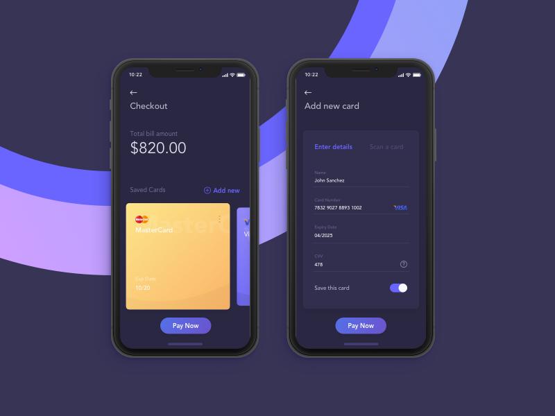 信用卡app 支付页面 sketch素材下载 界面-第1张