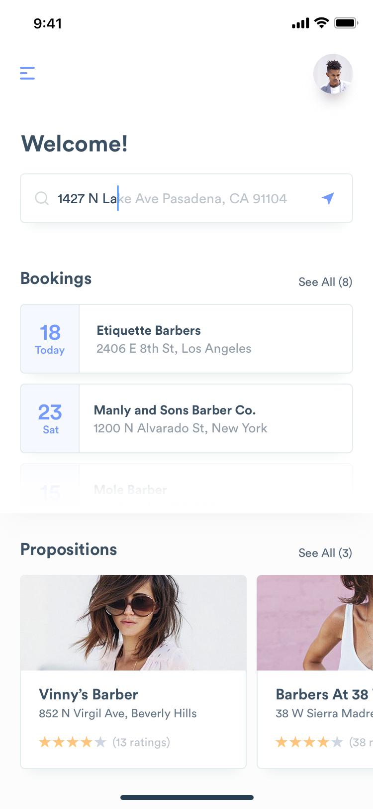 酒吧社交在线预约App界面设计 .sketch素材下载 界面-第3张