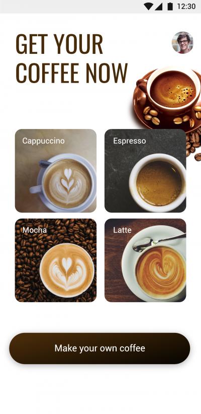 高端的咖啡点单APP UI界面设计 .XD素材下载 界面-第6张