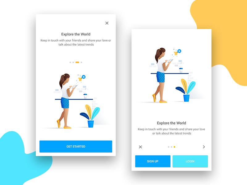 简洁的app 引导页UI界面设计 界面-第1张