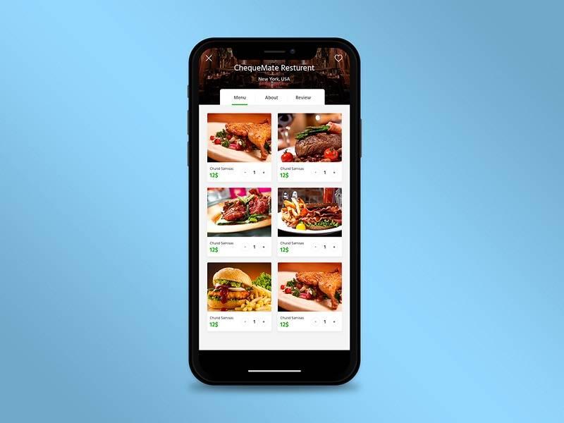酒店餐饮预订app UI界面设计 .psd素材下载 界面-第1张