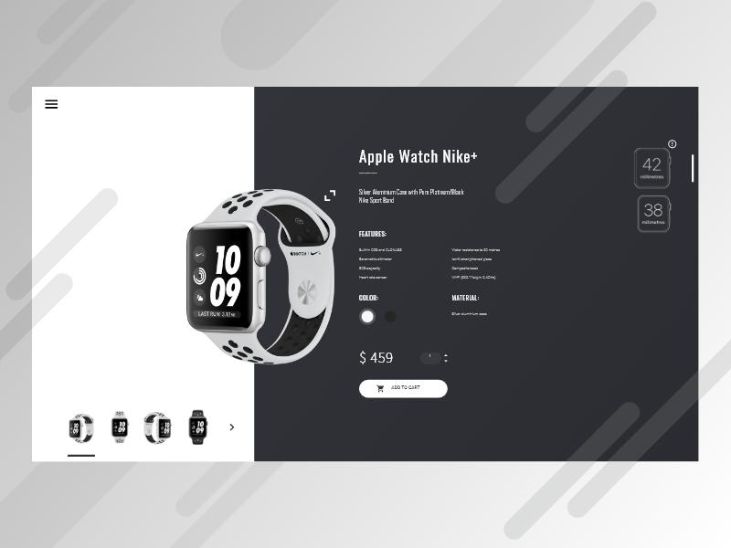 电商购物iWatch Product Card .xd素材下载 界面-第1张