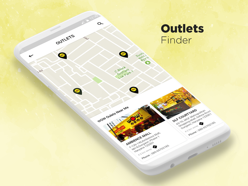 app地图搜索UI界面设计 .psd素材下载 界面-第1张