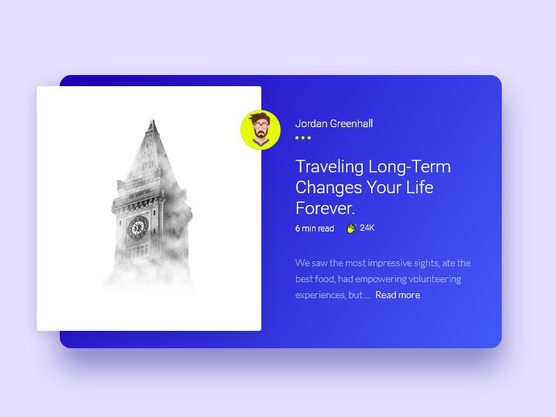 网页旅行博客内容卡片设计.xd素材下载(1p)