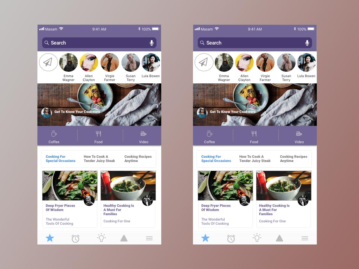食品app UI界面设计 .sketch素材下载 界面-第1张