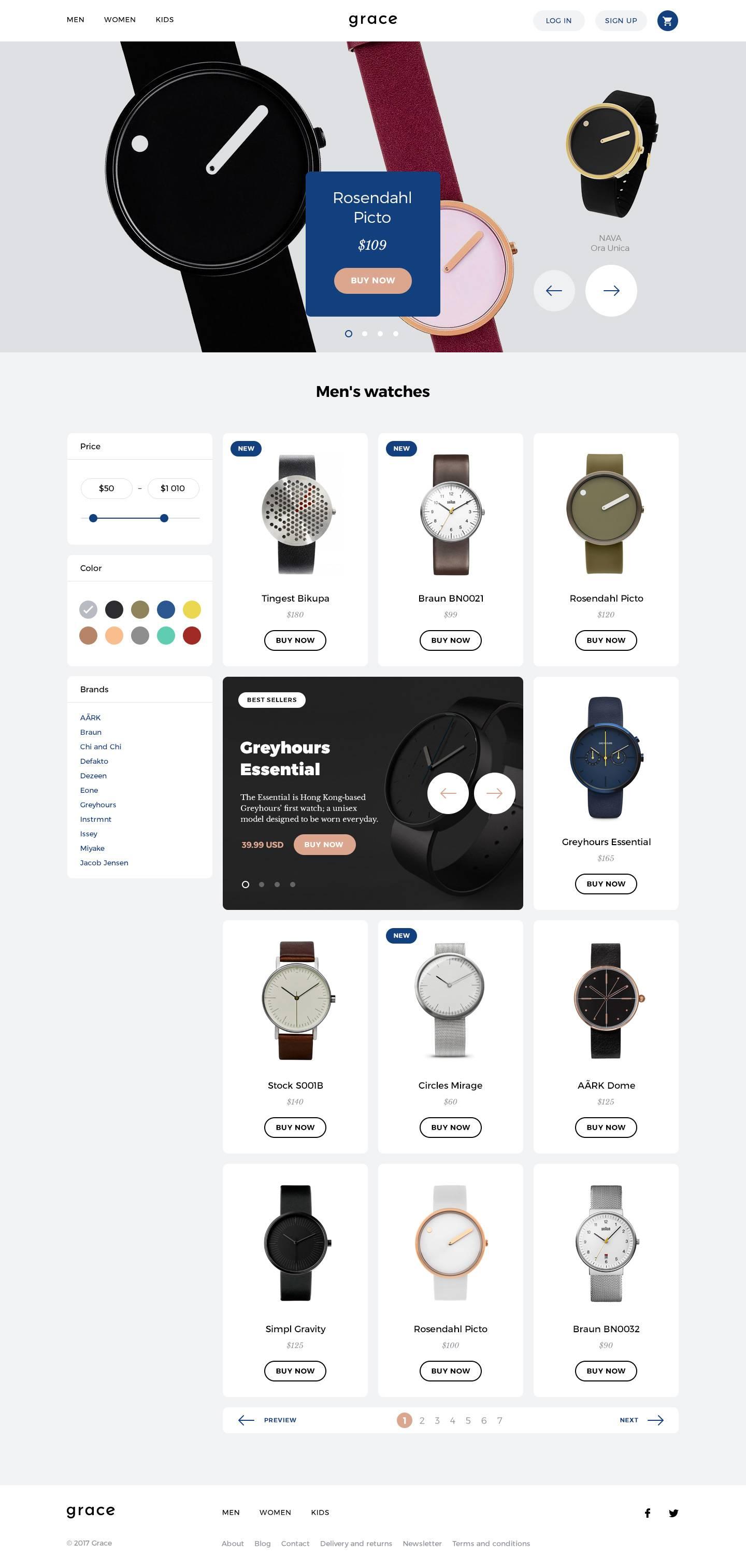 电商网站 产品页列表页模板.psd & .sketch素材下载 网页模板-第2张