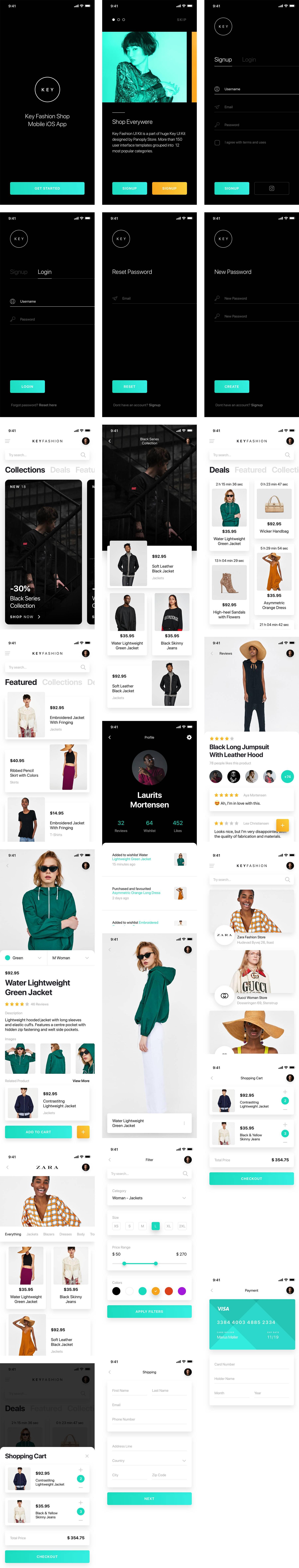 时尚电商app ui模板.sketch素材下载 界面-第1张