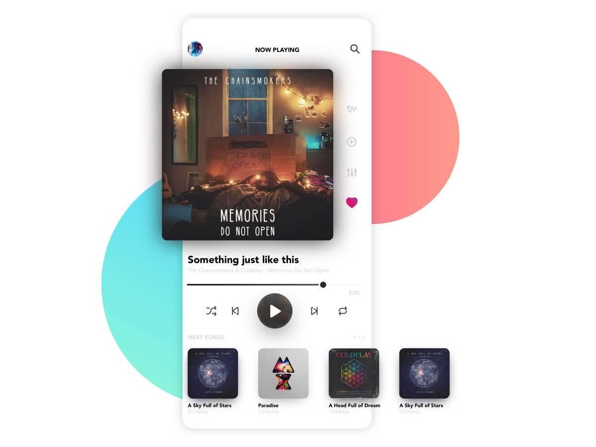 音乐app ui 概念设计.sketch素材下载 网页模板-第1张