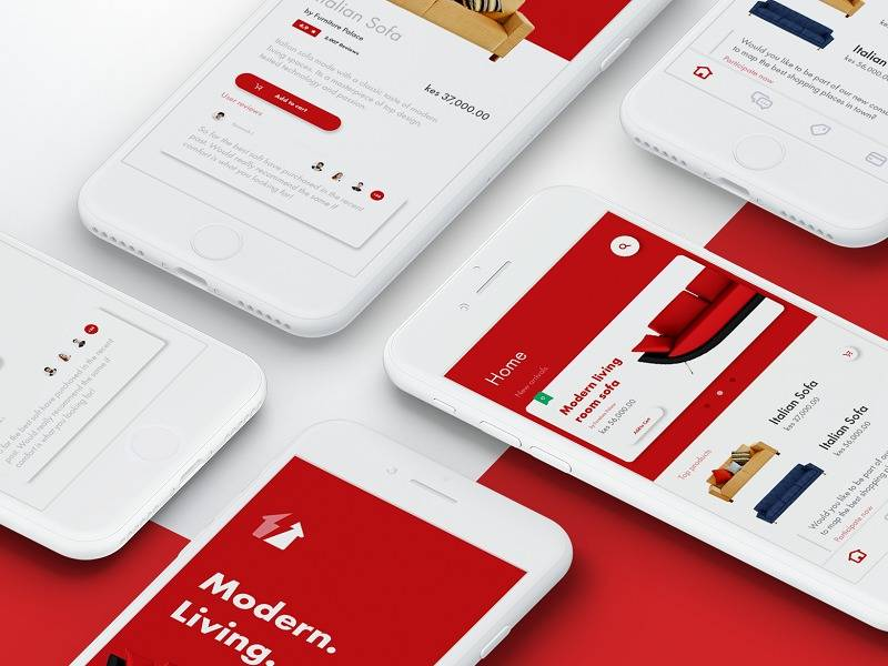 家居电商购物app ui界面设计 .ai素材下载 界面-第1张