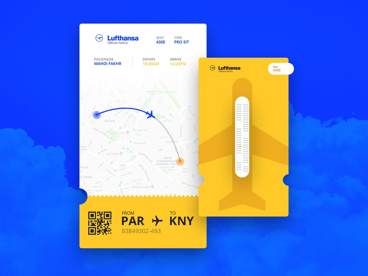 机票购票app界面设计 .psd素材下载 界面-第1张