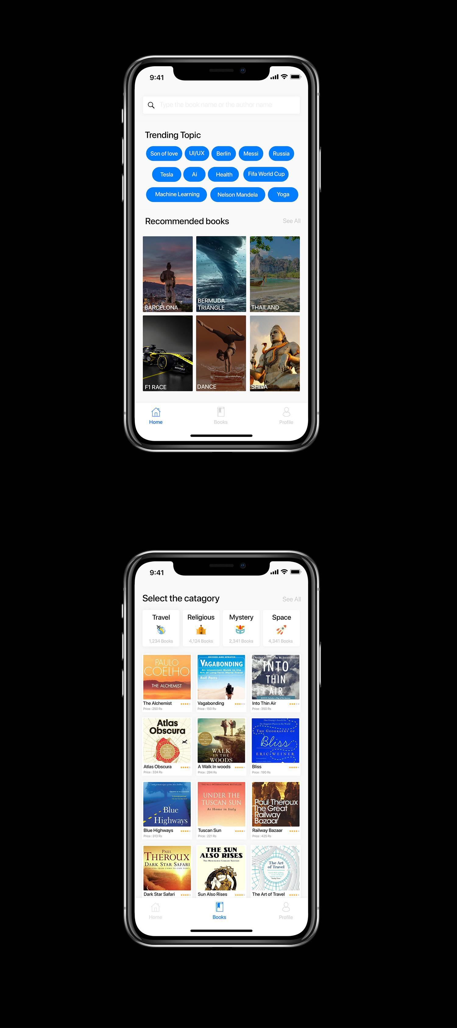 电商购物在线书店app界面设计 .psd素材下载 界面-第1张