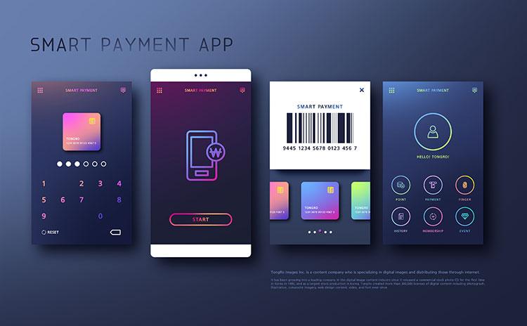 [素材包]ui设计面试作品扁平化手机app交互界面ps模板